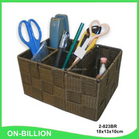 Promotional handmade colored nylon woven pen container box