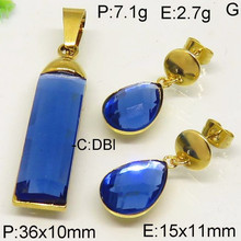 high quality stainless steel gold plated guangzhou gemstone jewelry market from China