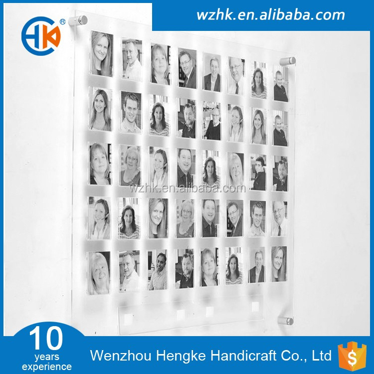 Double-sided Wall Mounted Acrylic Picture Photo Frames