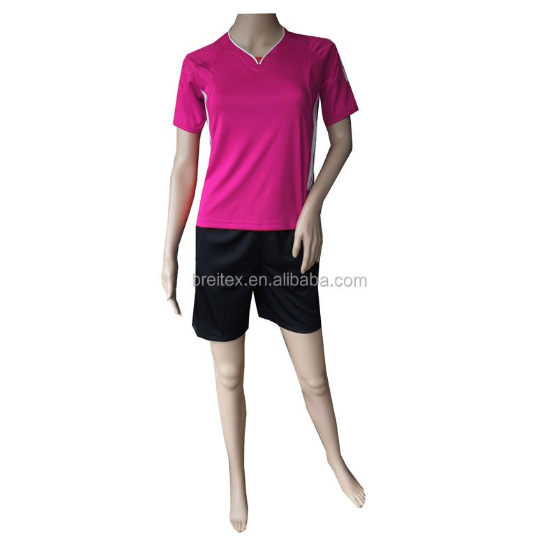 wholesale custom cheap and plain wear woman soccer jersey