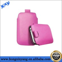 PU Leather Sleeve Pouch Case with Pull Tab