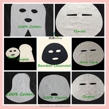 Hot selling spunlace silk/ bamboo/cupra/gauze beauty non woven face mask