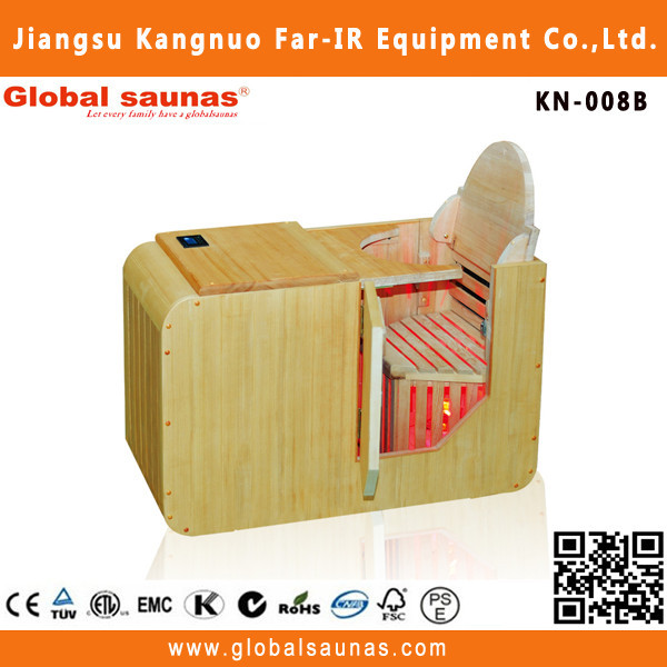 thermal therapy half body dry sauna with canadian hemlock wood KN-008B