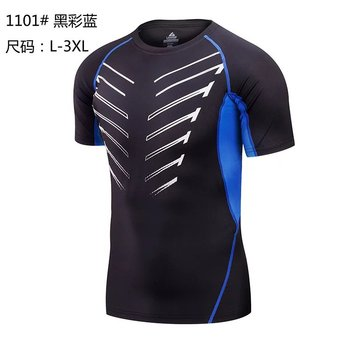 Wholesale Fitness Men Short Sleeve Running Sports T Shirt Men Muscle Gym Bodybuilding Compression shirts