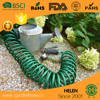 New 50ft Retractable Extending Coil Garden Hose Pipe 5 Function Water Spray Gun