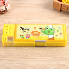 2016 New products kawaii drawer style school stationery plastic pen case
