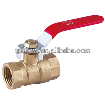 Brass Ball Valve with red handle