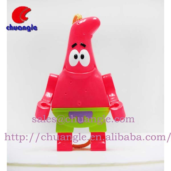 PVC Keyring for Promotional, Hot Selling Plastic Key Chains, Cartoon Keyring Item