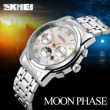 Skmei brand wholesale stainless steel men quartz watch luxury watch #9121