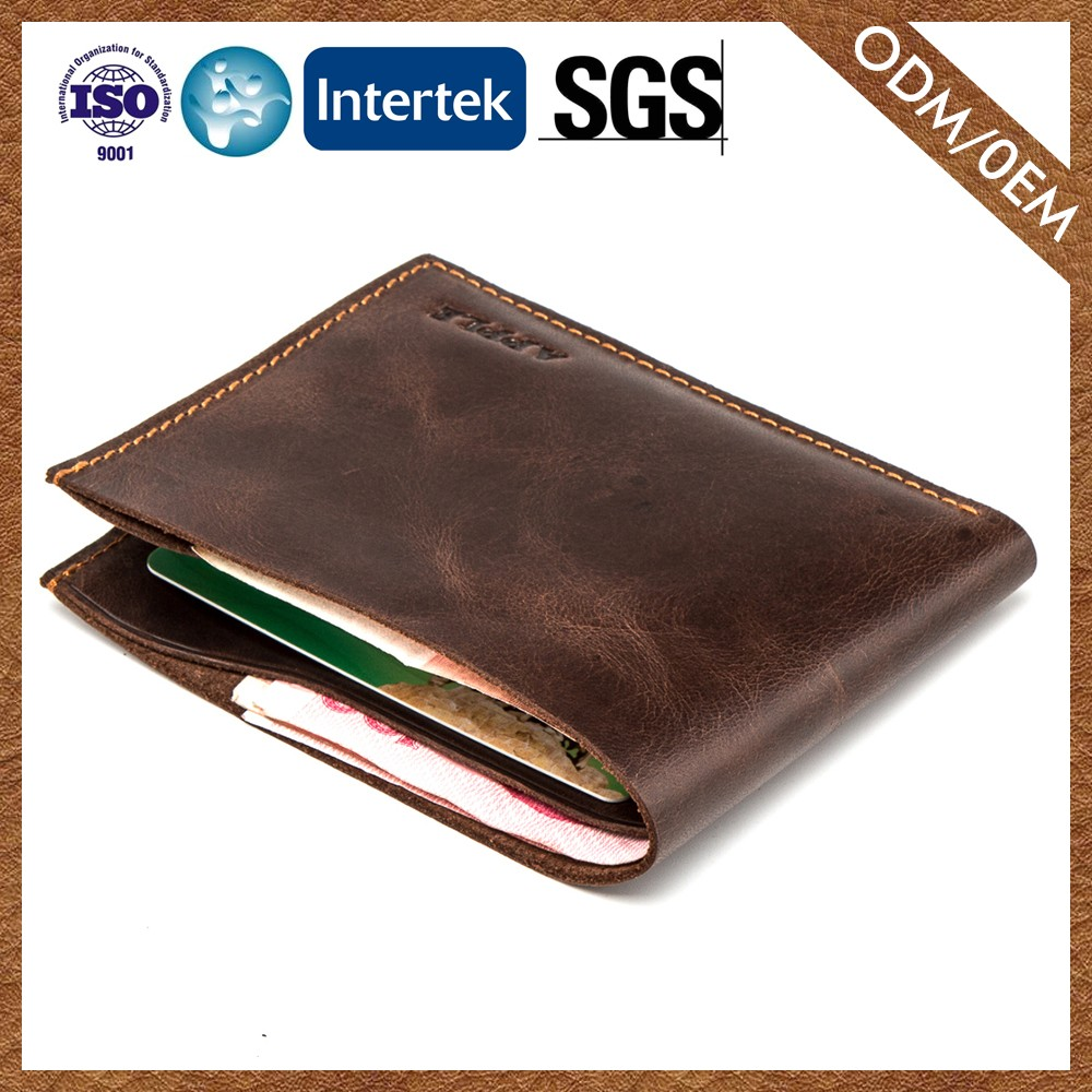 Experienced Factory Custom Color Cowhide Various Design Men'S Leather Purse/Wallet