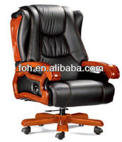 Guangzhou Custom Design Genuine Leather Swivel Palace Office Executive Chair(FOH-A37#)