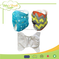 PSF275A soft breathable kawaii reusable all in one baby cloth diaper nappy
