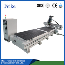 JINAN hot sale 4x8 ft 1325 syntec control system automatic 3d wood carving cnc router