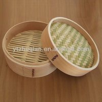 Chinese Supplier Natural Bamboo Steamer Kitchen Ware for Food