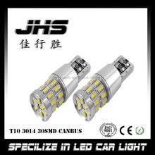 Super bright Auto T10 Wedge bulb CANBUS 3014 30smd w5w led canbus 6000k