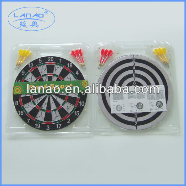 15'' flocked dart board