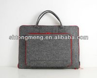 "Authentic Handmade Felt Laptop Case Handbag Business File Sleeve with Zipper Closure for 11"" 13"" 15"" Macbook"