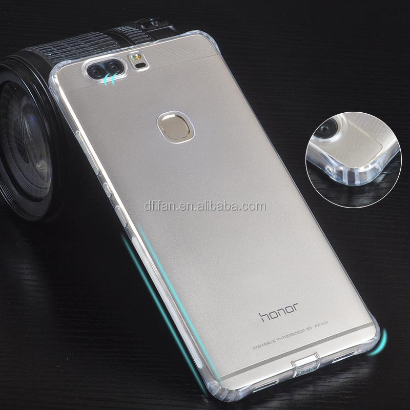 Huawei honor V8 cover case,new design anti slip dirt resistant clear tpu mobile case for huawei honor v8