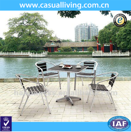 Outdoor Polywood Aluminum Dining Table and Chairs Outdoor Furniture Set