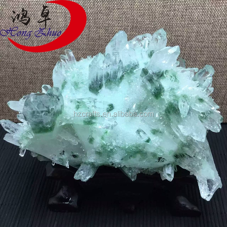 Untrimmed Facet Rough <strong>crystal</strong> price carat Gemstone natural rough wholesale/green and white