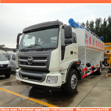 Foton 4*2 10 ton hydraulic grain auger feed grain transport truck 15 18 20 cubic meters for sale