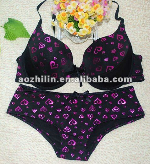 2017 New Arrival Special Lingerie Bra and Panties Set from Shantou China