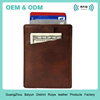 Slim Card Sleeve Wallet with RFID Protection Genuine Leather Ultra Thin Credit Card Holder Minimalist Front Pocket Wallet