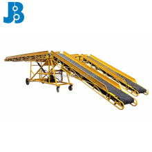 Mobile inclined heavy duty loading truck aggregate blet conveyor system