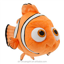 2016 Wholesale Factory custom promational fuzzy Vivid Cute Stuffed Animal Plush Tropical Nemo Plush Finding Dory Fish toys