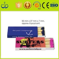 colorful head safety match style paper slide boxes wholesale