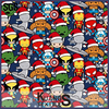 digital printing cotton christmas fabric