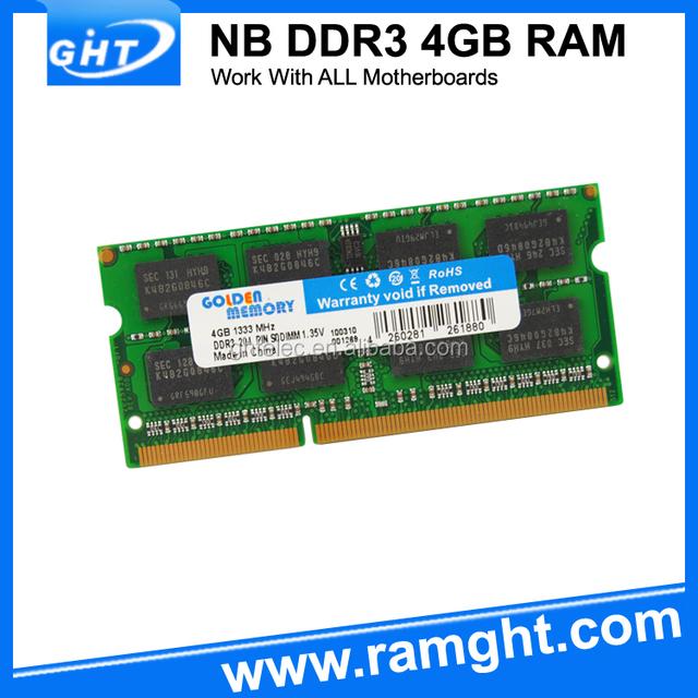 Low density 4gb ram memory laptop ddr3 1066 1333mhz pc8500