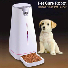 4L automatic dog cat rabbit pet feeder with smart app control with wifi camera speaker