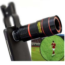8x Clip-on Phone Lens Universal Zoom Telescope Camera Telephoto Lens Zoom Telescope Magnifier Optical Lens