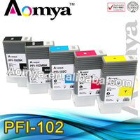 Large Format Compatible ink cartridge for canon pfi-102 pr for Canon iPF500 / 600 / 605 / 610 / 650 / 655; iPF700 / 710 / 720
