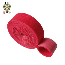 Colored soft double sided back to back hook and loop tape