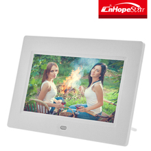 "Hot white / black case optional 7"" / 7 inch hd lcd digital photo frame"