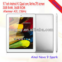 New arriving! Ainol Novo 9 Spark Quad Core A31 9.7 inch Android 4.1 Retina IPS 2G RAM Tablet PC