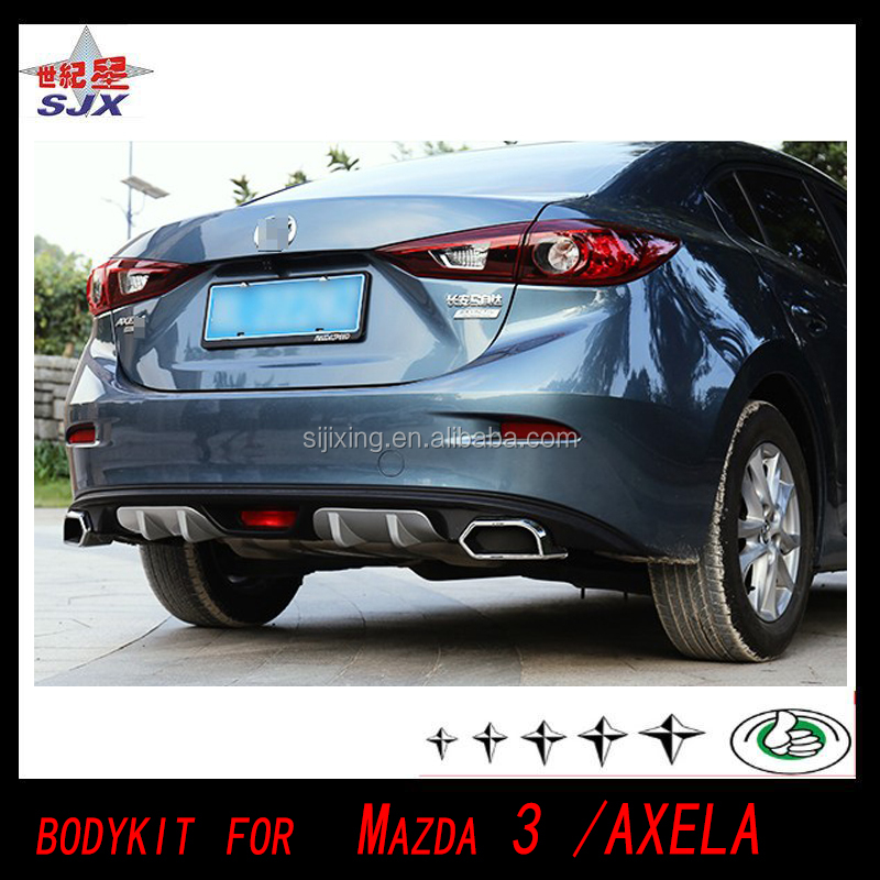 Body kit bumper lip Grille Spoiler for Mazda 3 Axela 2014 2015 2016