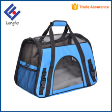 Alibaba supplier ventilated mesh cloth portable cat carrying bag fashion wholesale pet dog travel carrier with slip pocket