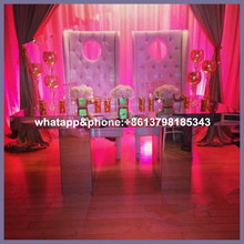 wedding event mirror table for wedding stage