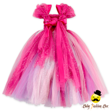 Hot sell frock children tutu handmade bow party dress baby girl party dress children frocks designs