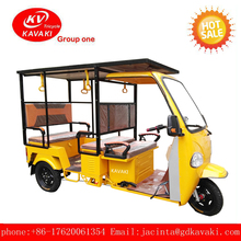 Solar panel tourist sightseeing adult 3 electric tricycle for passenger car