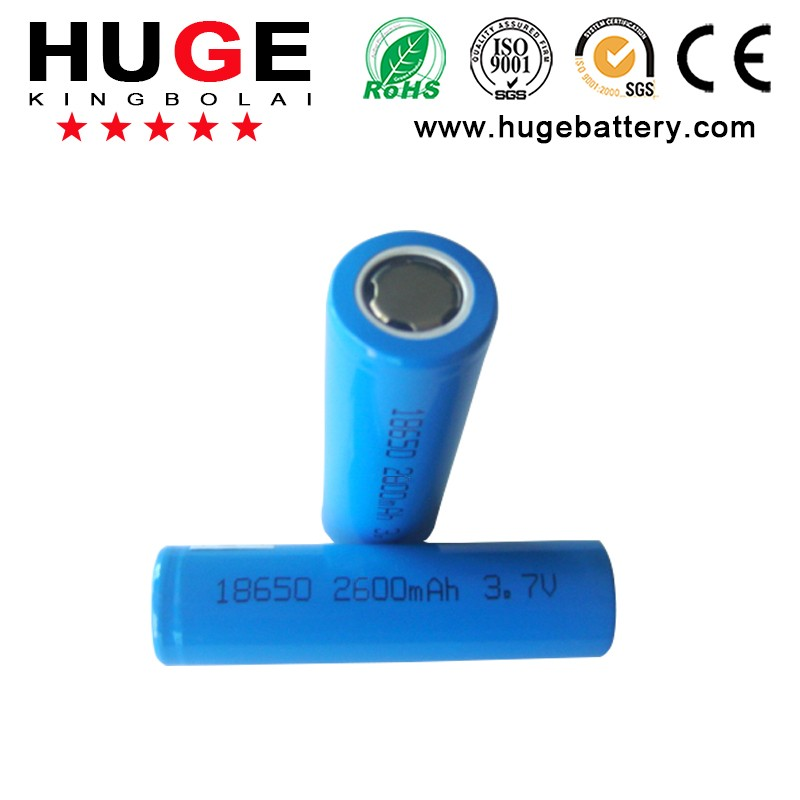 High Capacity 3.7V18650 2600mAh Cylindrical Lithium ion Battery