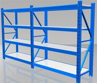 Warehouse Long-span Shelving, Bolted Metal Storage Racks, Adjustable warehouse shelves