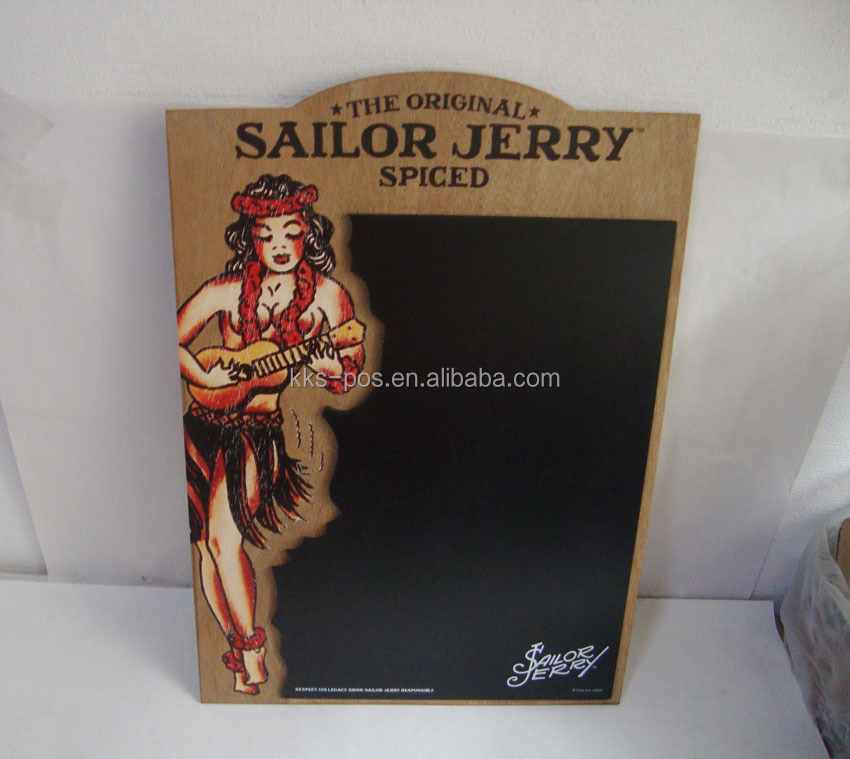 Sailor Jerry Beauty Shape Wall Hanging Blackboard