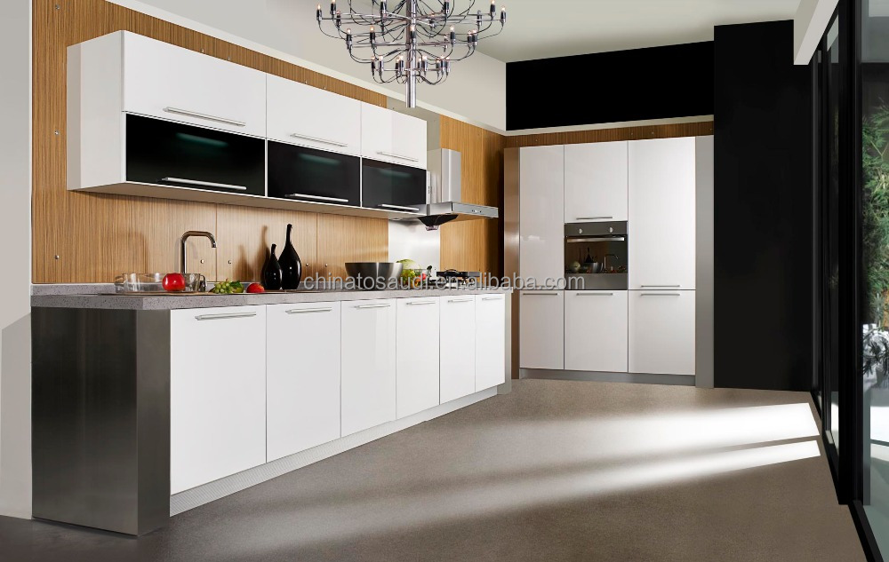 Modern Cherry Finished Wooden Kitchen Cabinet For Sale High Quality Display Kitchen Cabinets