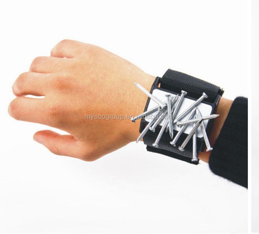 Magnetic Wrist Holder Magnetic Wrist Holder for Tools Screws and Nails Magnetic Wristband Strap Holder Nail Gripper