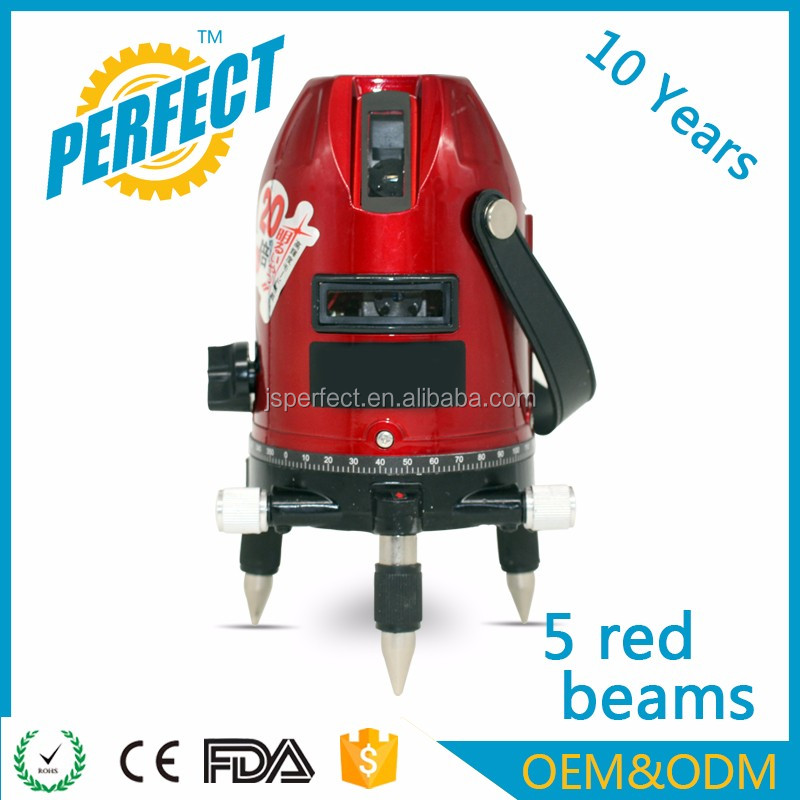 OEM factory price 5 high power cross red beams auto laser level 360