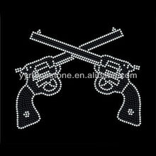 Rhinestone Guns Hot Fix Iron On Transfer T-Shirt